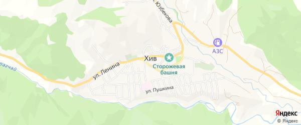 Карта села Хива в Дагестане с улицами и номерами домов