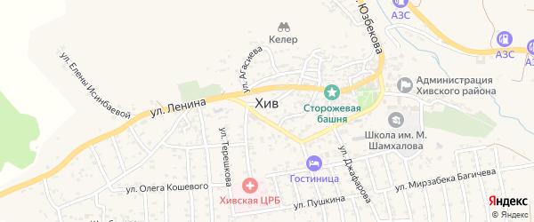 Улица Ломоносова на карте села Хива с номерами домов