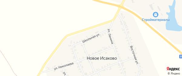Школьная улица на карте деревни Новое Исаково с номерами домов