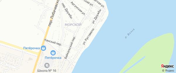 Улица Руставели на карте Астрахани с номерами домов