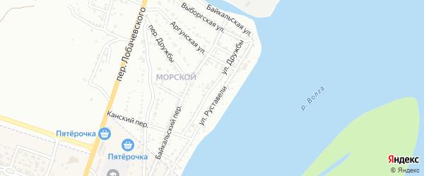 Улица Дружбы Народов на карте Астрахани с номерами домов