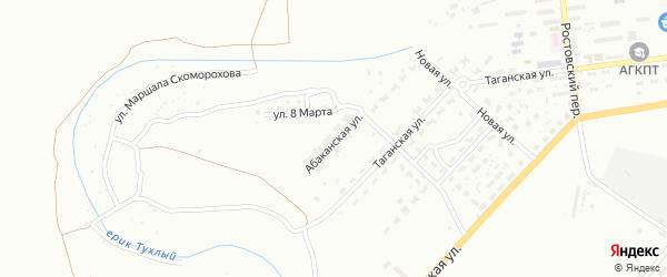 Абаканская улица на карте Астрахани с номерами домов