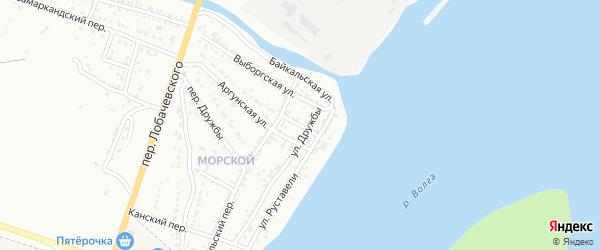 Цеховой переулок на карте Астрахани с номерами домов