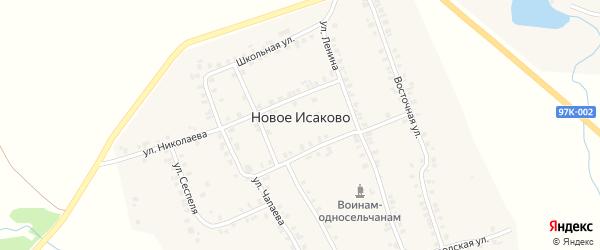 Речная улица на карте деревни Новое Исаково с номерами домов