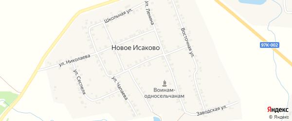 Улица 50 лет Октября на карте деревни Новое Исаково с номерами домов