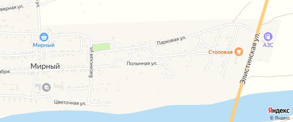 Полынная улица на карте Мирного поселка с номерами домов