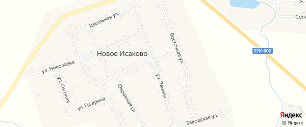 Улица Ленина на карте деревни Новое Исаково с номерами домов