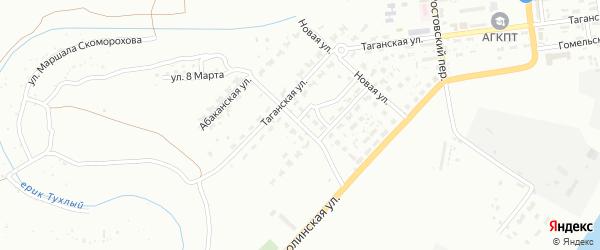 Джамбульская улица на карте Астрахани с номерами домов