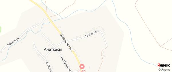 Новая улица на карте деревни Анаткас с номерами домов