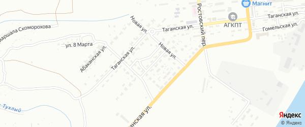 Измаильская улица на карте Астрахани с номерами домов
