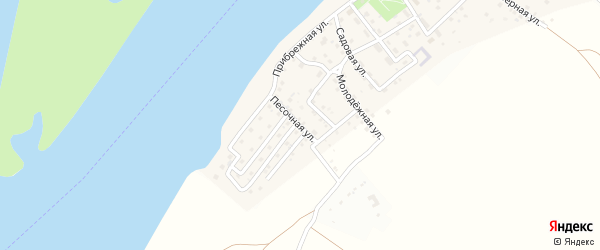 Песочная улица на карте поселка Ассадулаево с номерами домов