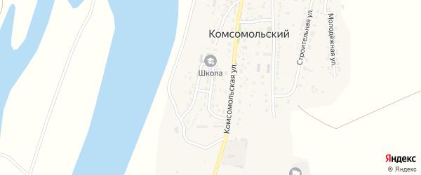 Октябрьская улица на карте Комсомольского поселка с номерами домов