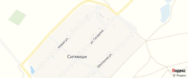 Новая улица на карте деревни Ситмиши с номерами домов