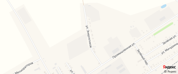 Улица Энергетиков на карте поселка Урмары с номерами домов