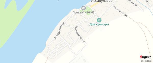 Молодежная улица на карте поселка Ассадулаево с номерами домов