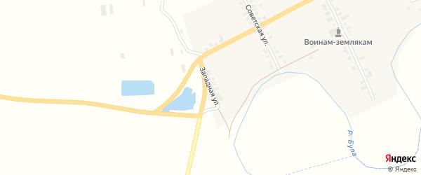 Западная улица на карте деревни Избахтино с номерами домов