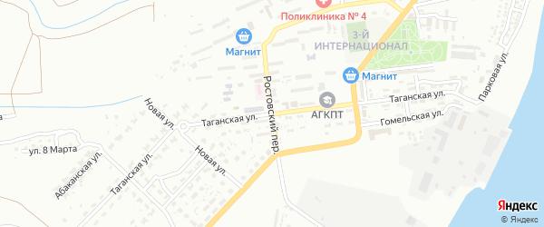Таганская улица на карте Астрахани с номерами домов