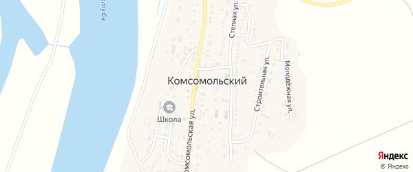 Садовая улица на карте Комсомольского поселка с номерами домов