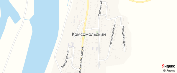 Юбилейная улица на карте Комсомольского поселка с номерами домов