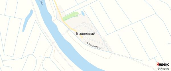 Карта Вишневого поселка в Астраханской области с улицами и номерами домов