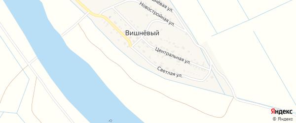 Светлая улица на карте Вишневого поселка с номерами домов