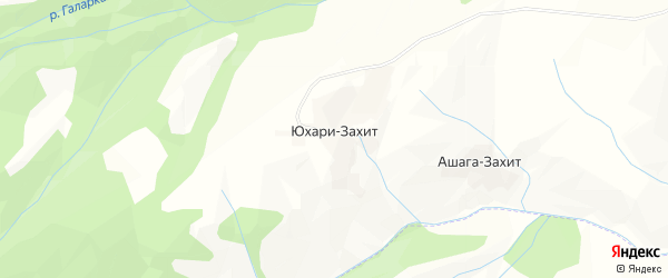 Карта села Юхари-Захит в Дагестане с улицами и номерами домов