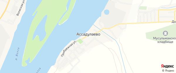 Карта поселка Ассадулаево в Астраханской области с улицами и номерами домов