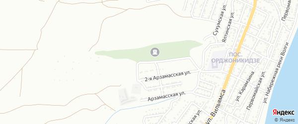 Арзамасская 3-я улица на карте Астрахани с номерами домов