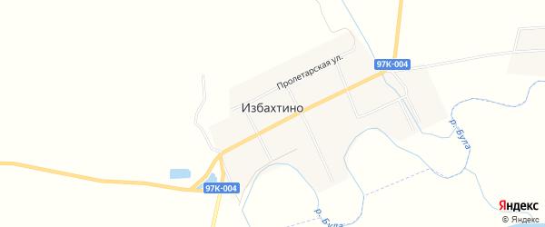 Карта деревни Избахтино в Чувашии с улицами и номерами домов