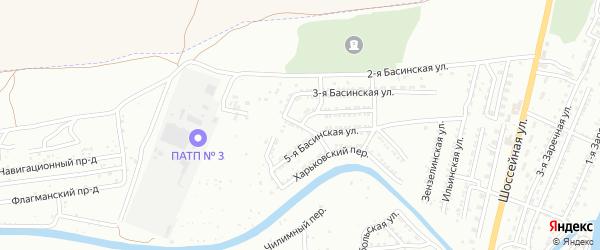 Межевой 3-й переулок на карте Астрахани с номерами домов