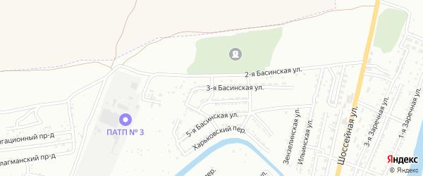 Ильинский 2-й переулок на карте Астрахани с номерами домов