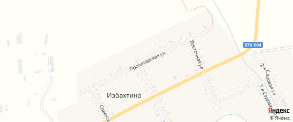 Пролетарская улица на карте деревни Избахтино с номерами домов