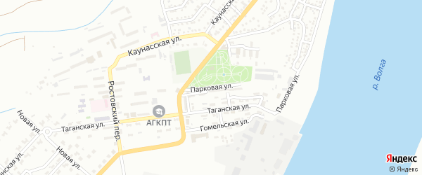 Парковая улица на карте Астрахани с номерами домов