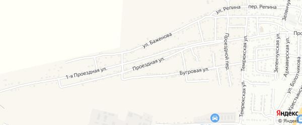 Проездная улица на карте села Старокучергановка с номерами домов