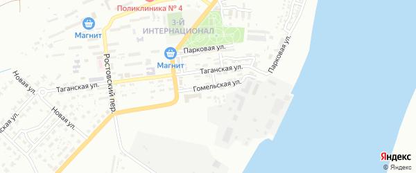 Гомельская улица на карте Астрахани с номерами домов