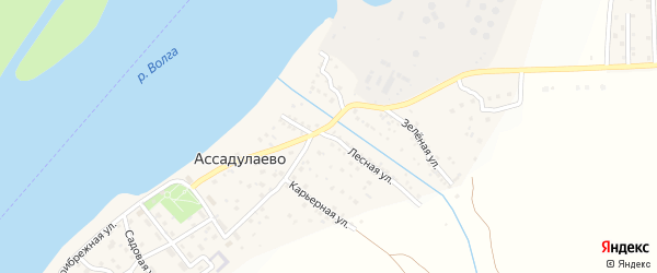 Лесная улица на карте поселка Ассадулаево с номерами домов
