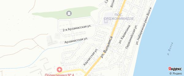 Аладанская улица на карте Астрахани с номерами домов
