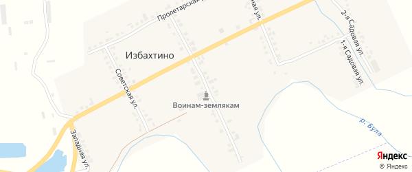 Центральная улица на карте деревни Избахтино с номерами домов