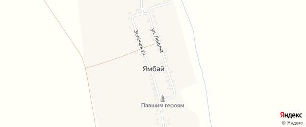 Молодежная улица на карте деревни Ямбая с номерами домов