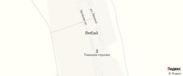 Зеленая улица на карте деревни Ямбая с номерами домов