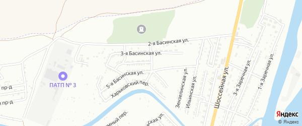 Ильинский 1-й переулок на карте Астрахани с номерами домов