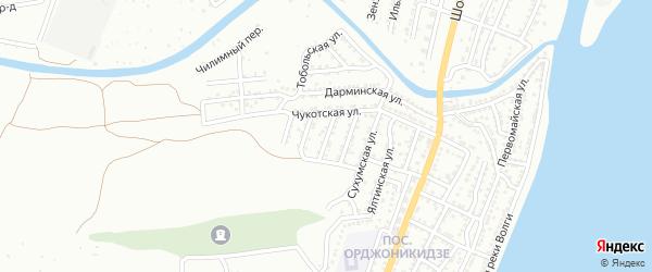 Новгородский переулок на карте Астрахани с номерами домов