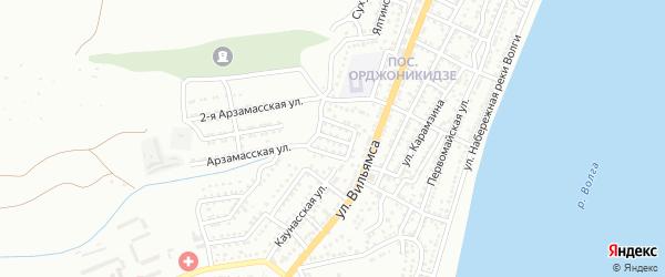 Западный переулок на карте Астрахани с номерами домов