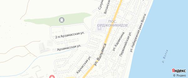 Свободный переулок на карте Астрахани с номерами домов