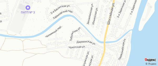 Эстонский переулок на карте Астрахани с номерами домов