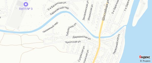 Каменская улица на карте Астрахани с номерами домов