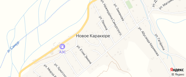 Четвертая улица на карте села Нового Каракюре с номерами домов