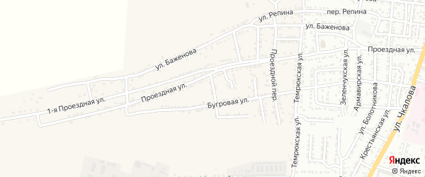 Конечный переулок на карте села Старокучергановка с номерами домов