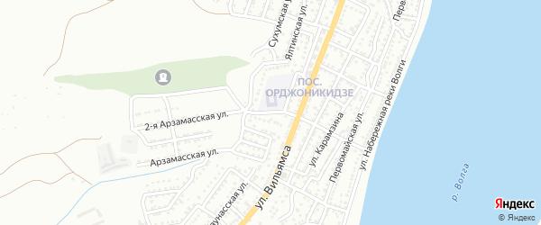 Улица Докучаева на карте Астрахани с номерами домов