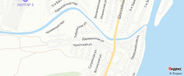 Дарминская улица на карте Астрахани с номерами домов